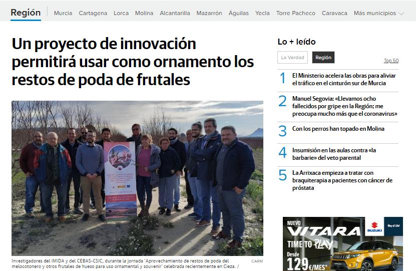 Gran repercusión del proyecto Flor de Frutas, del que Agromarketing es Agente de Innovación